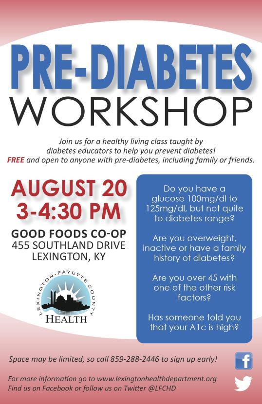 Pre-Diabetes August